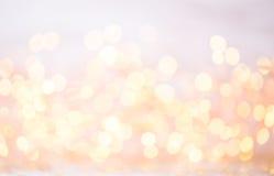 Abstract goud bokeh Kerstmis en de Nieuwe achtergrond van het jaarthema Royalty-vrije Stock Foto