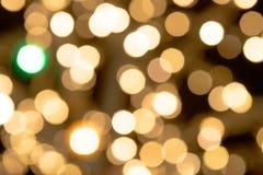 Abstract goud bokeh met textuurachtergrond Royalty-vrije Stock Afbeelding