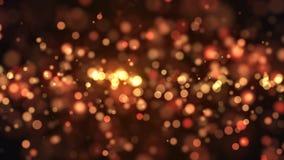 Abstract goud bokeh met zwarte achtergrond Stock Foto's