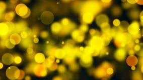 Abstract goud bokeh met zwarte achtergrond Stock Afbeelding