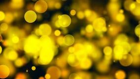 Abstract goud bokeh met zwarte achtergrond Stock Afbeeldingen