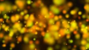 Abstract goud bokeh met zwarte achtergrond Royalty-vrije Stock Afbeeldingen
