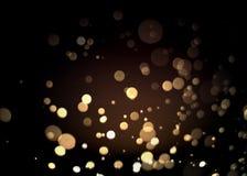 Abstract goud bokeh met zwarte achtergrond Royalty-vrije Stock Fotografie