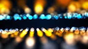 Abstract goud bokeh met zwarte achtergrond Digitaal Stock Afbeelding