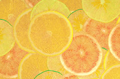 Abstract goud fruite Stock Foto