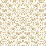 Abstract Gouden Art Deco Seamless Background Het geometrische Patroon van de Vissenschaal vector illustratie