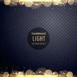 Abstract gouden bokeh lichteffect met fonkelingen Royalty-vrije Stock Afbeeldingen