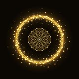 Abstract gouden cirkelkader met mandala Royalty-vrije Stock Fotografie