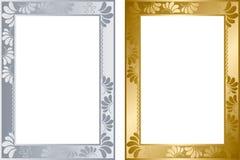 Abstract gouden en zilveren frame Stock Afbeelding