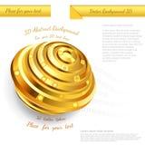 Abstract gouden gebiedontwerp voor uw bedrijfs promotiekunstwerk Royalty-vrije Stock Afbeeldingen