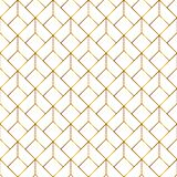 Abstract Gouden Geometrisch Naadloos Patroon op Witte Achtergrond royalty-vrije illustratie