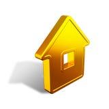 Abstract gouden huis Royalty-vrije Stock Foto's