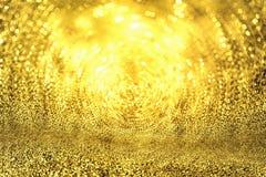 Abstract Gouden Licht Bokeh-Goud Als achtergrond Royalty-vrije Stock Fotografie