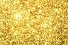 Abstract Gouden Licht Bokeh-Goud Als achtergrond Stock Foto's
