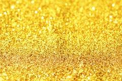 Abstract Gouden Licht Bokeh-Goud Als achtergrond Stock Fotografie