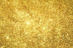 Abstract Gouden Licht Bokeh-Goud Als achtergrond Stock Afbeeldingen
