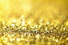 Abstract Gouden Licht Bokeh-Goud Als achtergrond Stock Afbeelding
