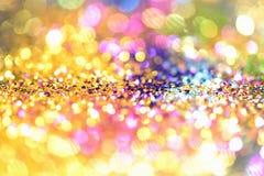 Abstract Gouden Licht Bokeh-Goud Als achtergrond Royalty-vrije Stock Afbeelding