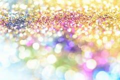 Abstract Gouden Licht Bokeh-Goud Als achtergrond Royalty-vrije Stock Foto's