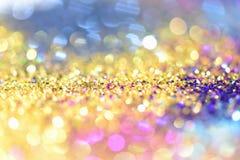 Abstract Gouden Licht Bokeh-Goud Als achtergrond Stock Foto