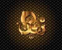 Abstract Gouden Logo Vector Royalty-vrije Stock Fotografie