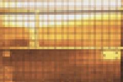 Abstract gouden mozaïekblok Stock Afbeeldingen