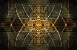 Abstract gouden patroon Royalty-vrije Stock Afbeeldingen