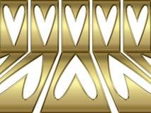 Abstract gouden perspectiefhart backgrond Stock Foto's