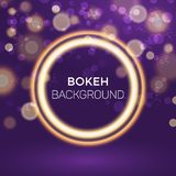 Abstract Gouden Ring Bokeh Background Vector Illustration stock illustratie
