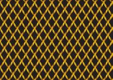 Abstract gouden ruit geometrisch patroon met zwart ontwerp als achtergrond Royalty-vrije Stock Foto's