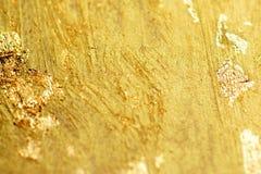 Abstract gouden van de foliewaterverf malplaatje als achtergrond voor kaarten, Stock Fotografie