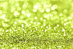 Abstract Gouden van groen Lichtbokeh Goud Als achtergrond Stock Fotografie