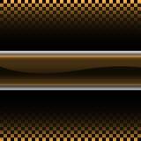 Abstract gouden zilveren etiket op geruite het ontwerp van het gradiënt zwarte patroon het rennen vector als achtergrond Stock Afbeeldingen