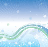 Abstract Gradient background with snowflakes and l Royalty Free Stock Photo