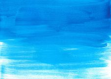 Abstract gradient blue watercolor paint, wallpaper texture stock photography
