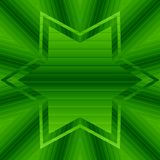 Abstract gradient pattern green swirls and star with copyspace royalty free illustration