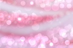 Abstract gradient purple pink background texture with blurred bokeh circles and lights. Space for design stock photography