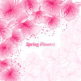 Abstract gradient seamless flower background with Royalty Free Stock Images