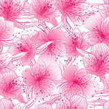Abstract gradient seamless flower pattern with Royalty Free Stock Images