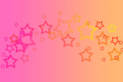 Abstract Gradient Star Background Royalty Free Stock Photography
