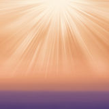 Abstract gradient textured background with sun light burst. Typo Stock Photo