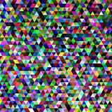 Abstract gradient tiled triangle pattern background - mosaic graphic design with colorful regular triangles Stock Images