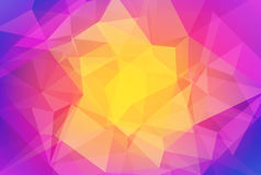 Abstract gradient triangle background. Gradient abstract horizontal triangle background. Vibrant rainbow multicolored polygonal backdrop for business Royalty Free Stock Image