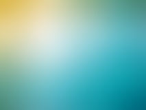 Abstract gradient yellow blue colored blurred background.  Royalty Free Stock Photo