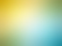 Abstract gradient yellow teal blue colored blurred background.  Royalty Free Stock Image