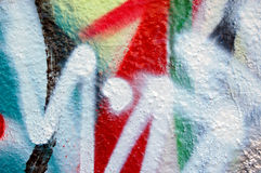 Abstract graffiti. Detail of a wall covered with graffiti Royalty Free Stock Image
