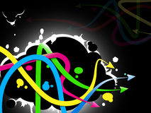 Abstract Graffiti Background Stock Photography