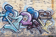 Abstract Graffiti Background. Graffiti background with colorful letters stock image