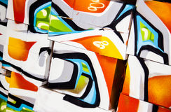 Abstract graffiti boxes Royalty Free Stock Images