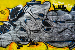 Abstract Graffiti Design, London UK Royalty Free Stock Images